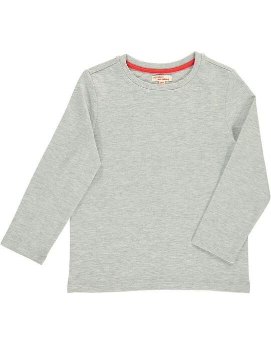 Tee Shirt Manches Longues Gris DOJOTEE1 / 18W90234D32J908
