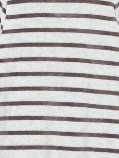 Grenouillère grise en velours motif monstre LEFUGREMON / 21SH1411GREJ920
