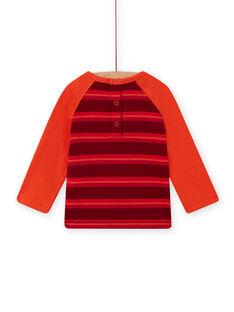 T-shirt rouge motif ourson bébé fille MUFUNTEE2 / 21WG10M1TML504