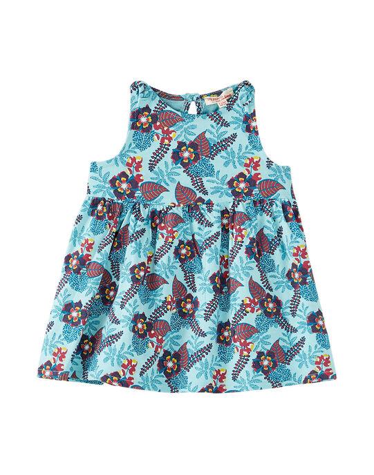 Robe de plage imprimée bébé fille JIPLAROB3 / 20SG09X3ROBC215