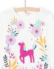 T-shirt écru motif licorne à sequins réversibles enfant fille MAPLATEE2 / 21W901O1TML001