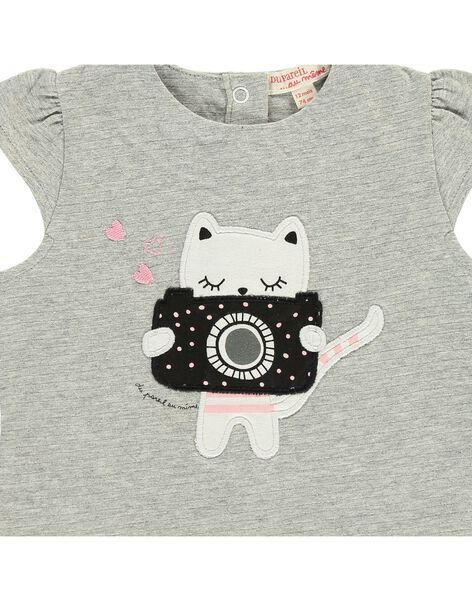 Tee-shirt manches courtes bébé fille CIBENTI / 18SG09G1TMC099