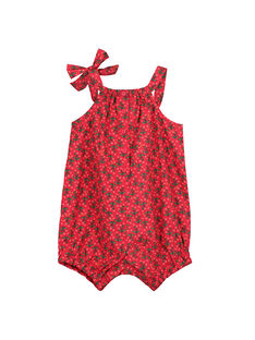 Barboteuse imprimée bébé fille FIYEBAR / 19SG09M1BAR304