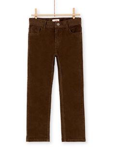 Pantalon en velours vert garçon KOJOPAVEL8 / 20W90244D2B604