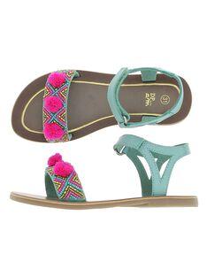 Sandale en cuir fille CFSANDPOM / 18SK35WHD0E202