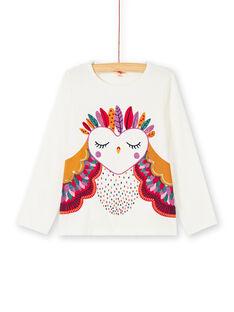 T-shirt manches longues, animation chouette imprimée et brodée KALUTEE1 / 20W901P1TML001