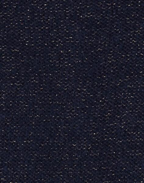 Cardigan marine avec lurex doré KAJOCAR1 / 20W90155D3C070