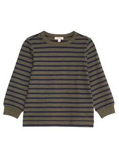 Tee shirt manches longues rayé enfant garçon KOJOTIRIB3 / 20W90239D32604