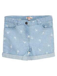 Short en jean, imprimé délavé palmiers JAJOSHORT3 / 20S901T1D30P272