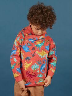 Sweatshirt à capuche imprimé dinosaures enfant garçon MOPASWE / 21W902H1SWEE415