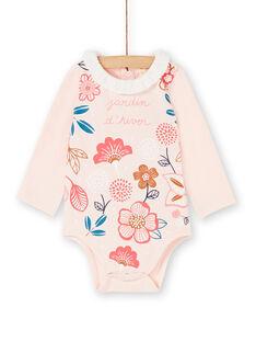 Body rose à fleurs bébé fille KISABOD / 20WG09O1BODD322