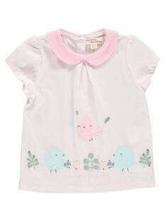 Tee-shirt manches courtes bébé fille CCFTI2 / 18SF03C1TMC301