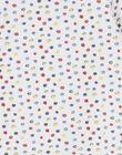 Grenouillère blanche manches longues à pois colorés LOU1GRE7 / 21SF05H5GRE000