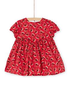 Robe rouge bébé fille KINOROB1EX / 20WG09Q3ROBF529