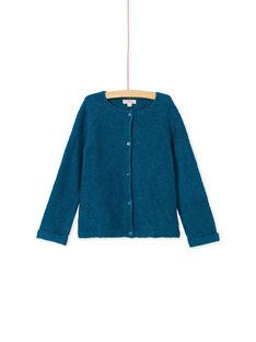 Cardigan manches longues, couleur Bleu de Berlin avec lurex  KAJOCAR8 / 20W90142D3CC225