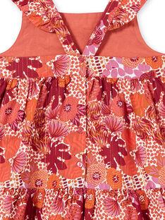 Robe imprimé fleurie aux bretelles volantées LATEROB1 / 21S901V3ROB001