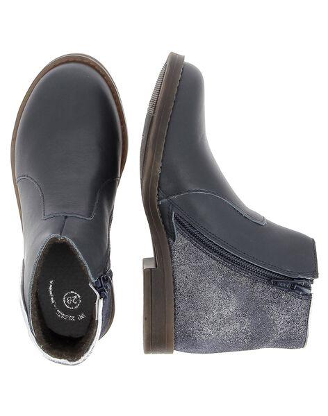 Boots en cuir fille DFBOOTMIX1 / 18WK35T5D0D070