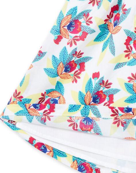 Robe sans manches à imprimé fleuri enfant fille JAMAROB4 / 20S901P1ROB000