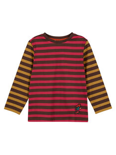 Tee Shirt Manches Longues Marron GOBRUTEE3 / 19W902K4TML816