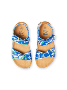 Sandales bleu marine motif requin enfant garçon LGNUREQUIN / 21KK3654D0E070
