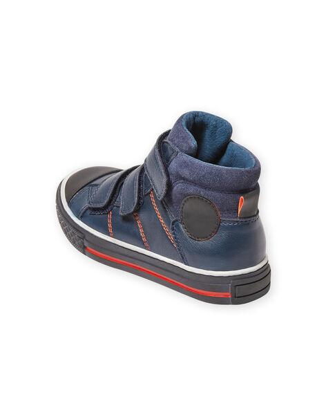 Baskets bleu marine enfant garçon MOBASTRIVNAVY / 21XK3653D3F070