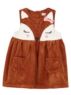 Robe chasuble en velours côtelé bébé fille  GIJAUROB2 / 19WG09H1ROB817
