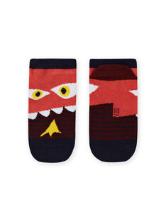 Chaussettes à rayures et motif dinosaure enfant garçon MYOPASOQ / 21WI02H1SOQ719