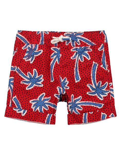 Bermuda palmiers garçon FOTOBER1 / 19S902L1BERF505