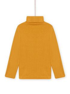 Sous-pull jaune motifs animaux fantaisie enfant garçon MOSAUSOUP / 21W902P1SPLB107