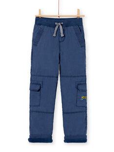 Pantalon battle bleu foncé doublé micropolaire enfant garçon KOSAPAN / 20W902O1PANC202