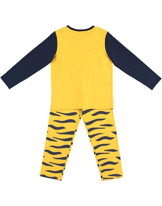 Pyjama déguisement jaune enfant garçon avec son range-pyjama JEGOPYJMAN3 / 20SH12L1PYG106
