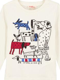 Tee Shirt Manches Longues Ecru GOTRITEE4 / 19W902J4TML003
