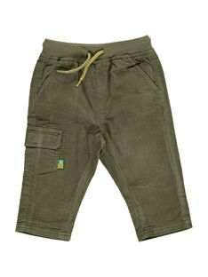 Pantalon en velours kaki bébé garçon DUJOPAN2 / 18WG1032PAN609