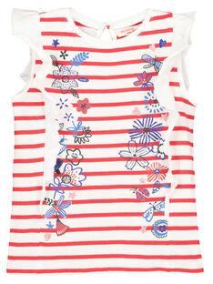 Tee-shirt manches volantées fille FATOTI1 / 19S901L2TMC099