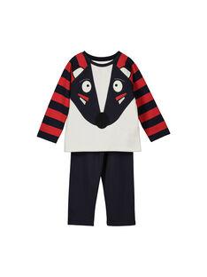 Pyjama en molleton garçon FEGOPYJBLAI / 19SH1249PYJ001
