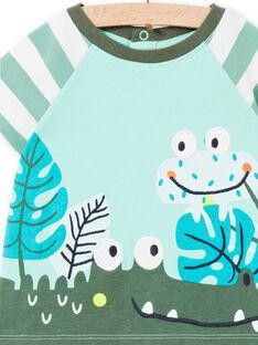 Tee Shirt Manches Courtes Vert LUVERTI1 / 21SG10Q1TMCG621