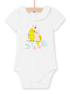 Body blanc bébé fille LIBALBOD / 21SG09O1BOD000