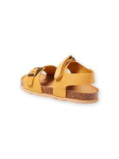 Sandales jaunes enfant garçon LGNUJAUNE / 21KK3659D0E010