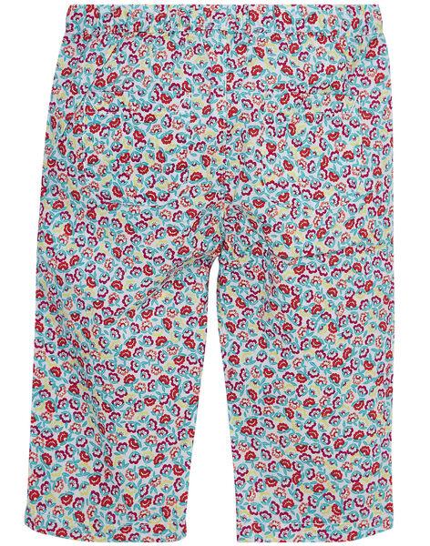 Pantalon blanc imprimé  fleuri bébé fille JIMARPAN / 20SG09P1PAN000