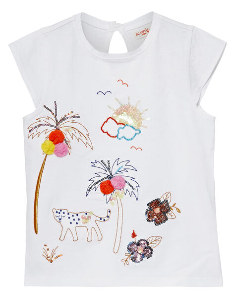 Tee Shirt Manches Courtes Ecru JATROTI2 / 20S901F1TMC001