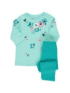 Pyjama en coton fille CEFAPYJFLO / 18SH1153PYJ203