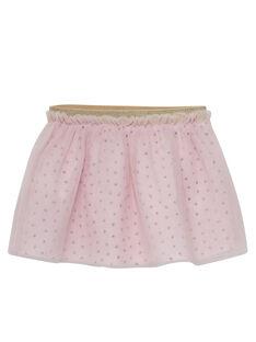 Jupe en tulle rose pâle bébé fille JIPOEJU / 20SG09G1JUP301