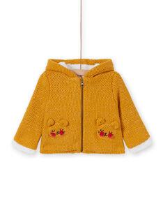 Veste en tricot jaune bébé fille KIREVEST / 20WG09J1VES107