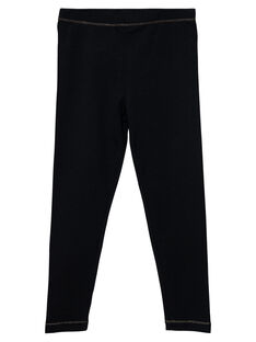 Legging noir fille JYAESLEG1 / 20SI0162D26090