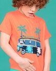 T-shirt orange fluo enfant garçon LOBONTI2 / 21S902W5TMCE411