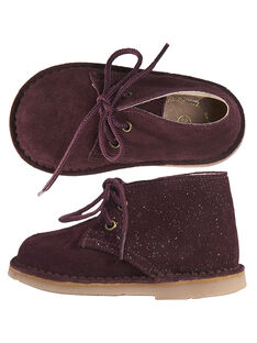 on feet shots of free shipping check out Desert boots croûte de cuir et paillétes bébé fille