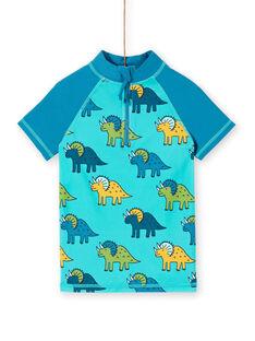 Tee-Shirt anti-uv Bleu LYOMERUVTIDIN / 21SI02D1TUVC215