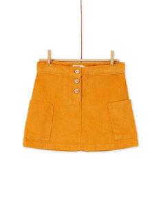 Jupe en velours, poches sur le devant et bouton effet bois KAGOJUP1 / 20W901L1JUP107