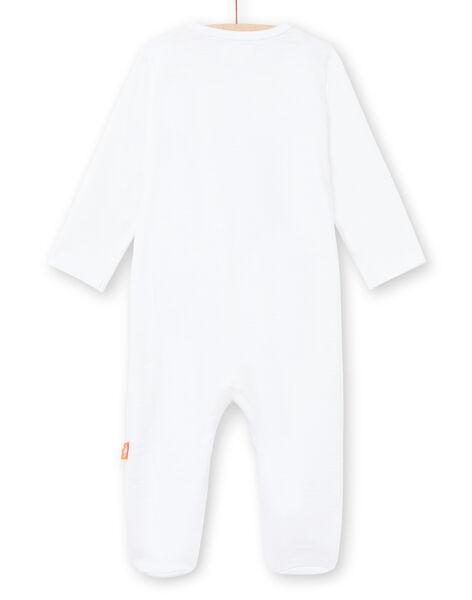 Grenouillère blanche brodée naissance mixte LOU2GRE3 / 21SF05I1GRE000