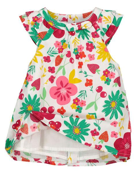 Robe en popeline bébé fille FIYEROB2 / 19SG09M2ROB000